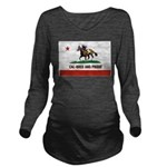 CAL-BRED AND PROUD Long Sleeve Maternity T-Shirt