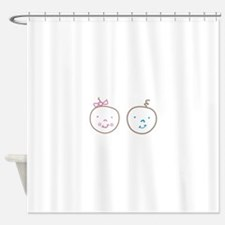 Two Cute Twins Shower Curtain