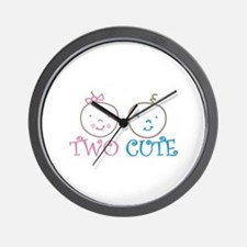 TWO CUTE Wall Clock
