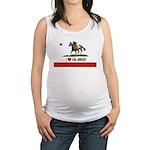 I Heart Cal-Breds Logo Maternity Tank Top