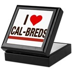 I Heart Cal-Breds no logo Keepsake Box