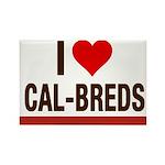 I Heart Cal-Breds no logo Magnets