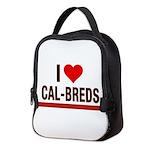 I Heart Cal-Breds no logo Neoprene Lunch Bag