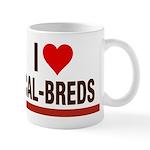 I Heart Cal-Breds no logo Mugs