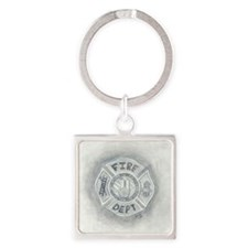 Maltese Cross Square Keychain
