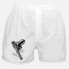 A pistol on the wooden table Boxer Shorts