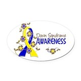 Down syndrome Oval Car Magnets