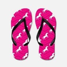 Hot Pink, White Horse, Equestrian, Chevron Flip Fl