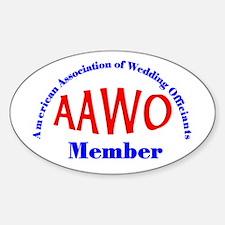 American Assn Wedding Officiants Oval Decal