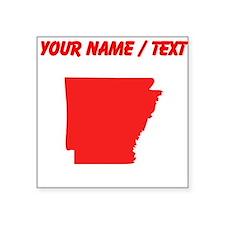 Custom Red Arkansas Silhouette Sticker