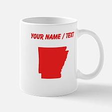 Custom Red Arkansas Silhouette Mugs