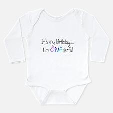 Cute 1st b day Long Sleeve Infant Bodysuit