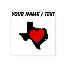 Custom Texas Heart Sticker
