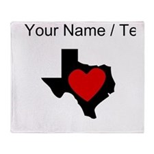 Custom Texas Heart Throw Blanket