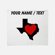 Custom Texas Heart Throw Blanket