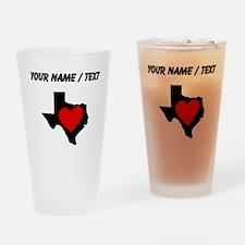Custom Texas Heart Drinking Glass