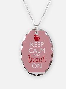 Keep Calm and Teach On Necklace