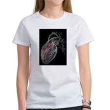 Heart with coronary vessels T-Shirt