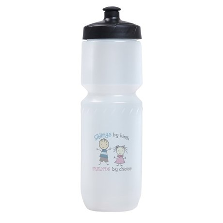 Siblings by birth FRIENDS by choice Sports Bottle