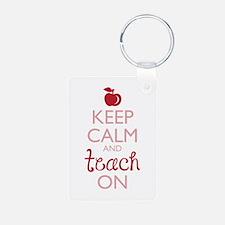 Keep Calm and Teach On Keychains