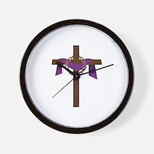 Season Of Lent Cross Wall Clock