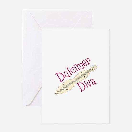 Dulcimer Diva Greeting Cards