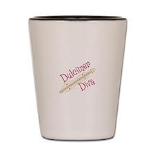 Dulcimer Diva Shot Glass