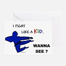 Fight Like A Kid Greeting Cards (Pk of 10)