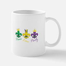 Peace Love Party Mugs