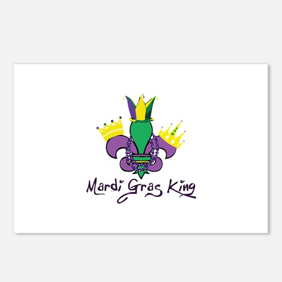 Mardi Gras King Postcards (Package of 8)