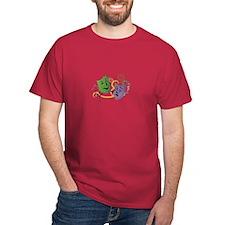 Mardi Gras Face Masks T-Shirt