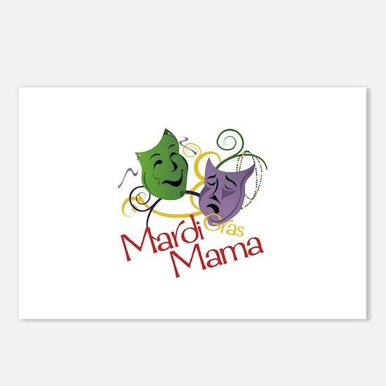 Mardi Gras Mama Postcards (Package of 8)