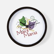 Mardi Gras Mama Wall Clock
