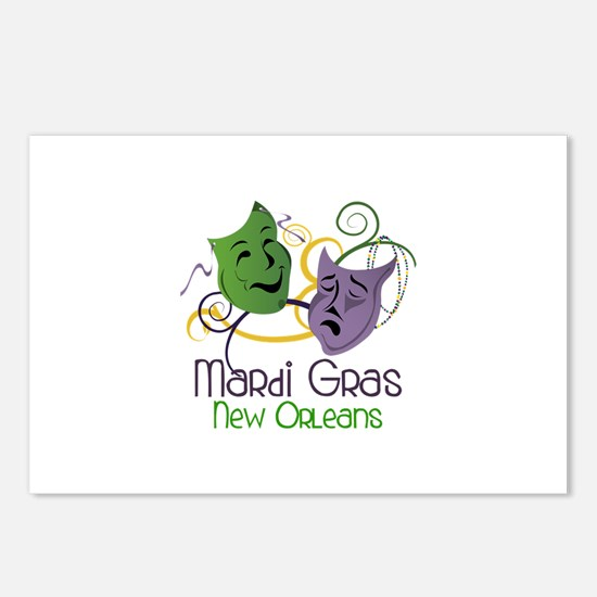 Mardi Gras New Orleans Postcards (Package of 8)