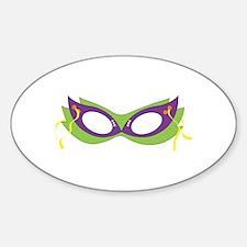 Mardi Gras Festive Mask Decal