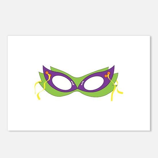 Mardi Gras Festive Mask Postcards (Package of 8)