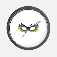 Mardi Gras Festive Mask Wall Clock