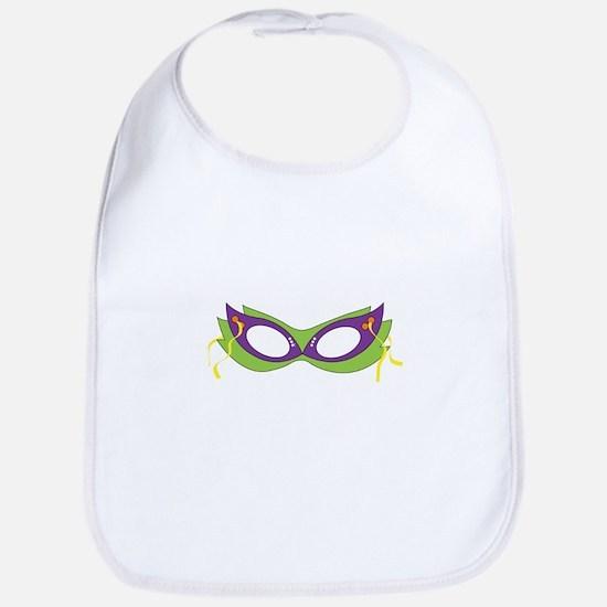 Mardi Gras Festive Mask Bib