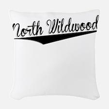 North Wildwood, Retro, Woven Throw Pillow