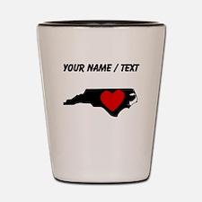 Custom North Carolina Heart Shot Glass