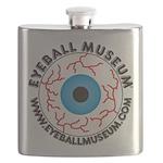 Eyeball Museum logo Flask