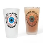 Eyeball Museum logo Drinking Glass