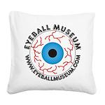 Eyeball Museum logo Square Canvas Pillow