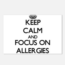 Keep Calm And Focus On Allergies Postcards (Packag