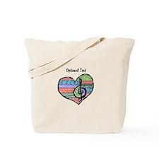 Customizable Music Heart Treble Clef Tote Bag