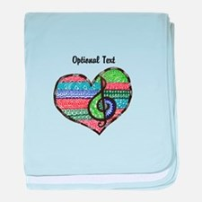 Customizable Music Heart Treble Clef baby blanket