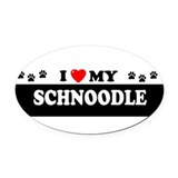 Schnoodle Oval Car Magnets