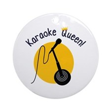 Karaoke Queen Ornament (Round)