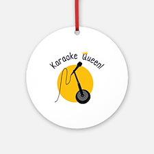 Karaoke Queen Ornament (Round)