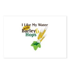 I Like My Water with Barley Hops Postcards (Packag
